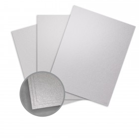 ASPIRE Petallics Silver Ore Card Stock - 19 x 13 in 98 lb Cover Metallic C/2S 125 per Package