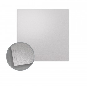 ASPIRE Petallics Silver Ore Flat Cards - No. 6 1/4 Square (6 1/4 x 6 1/4) 98 lb Cover Metallic C/2S 200 per Carton