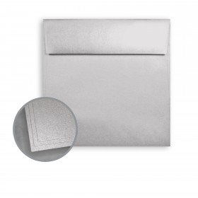 ASPIRE Petallics Silver Ore Envelopes - No. 6 Square (6 x 6) 80 lb Text Metallic C/2S  250 per Box