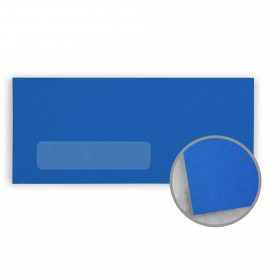 Astrobrights Blast-Off Blue Envelopes - No. 10 Window (4 1/8 x 9 1/2) 60 lb Text Smooth 500 per Box