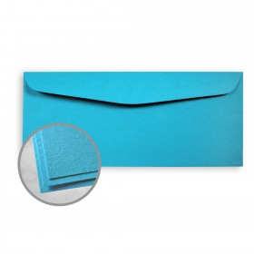 Astrobrights Celestial Blue Envelopes - No. 10 Commercial (4 1/8 x 9 1/2) 60 lb Text Smooth  30% Recycled 500 per Box