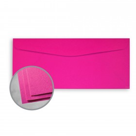Astrobrights Fireball Fuchsia Envelopes - No. 10 Commercial (4 1/8 x 9 1/2) 60 lb Text Smooth 500 per Box