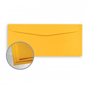 Astrobrights Galaxy Gold Envelopes - No. 10 Commercial (4 1/8 x 9 1/2) 60 lb Text Smooth  30% Recycled 500 per Box