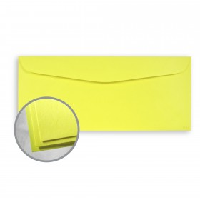 Astrobrights Lift-Off Lemon Envelopes - No. 10 Commercial (4 1/8 x 9 1/2) 60 lb Text Smooth 500 per Box