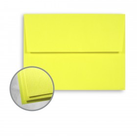 Astrobrights Lift-Off Lemon Envelopes - A2 (4 3/8 x 5 3/4) 60 lb Text Smooth 250 per Box