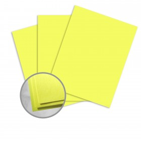 Astrobrights Lift-Off Lemon Card Stock - 8 1/2 x 11 in 80 lb Cover Smooth 250 per Package