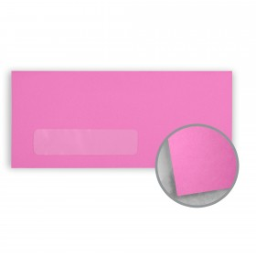 Astrobrights Outrageous Orchid Envelopes - No. 10 Window (4 1/8 x 9 1/2) 60 lb Text Smooth 500 per Box