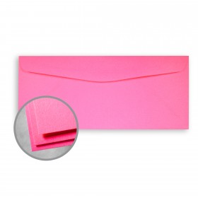 Astrobrights Plasma Pink Envelopes - No. 10 Commercial (4 1/8 x 9 1/2) 60 lb Text Smooth 500 per Box