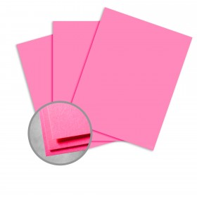 Astrobrights Plasma Pink Card Stock - 8 1/2 x 11 in 65 lb Cover Smooth 250 per Package