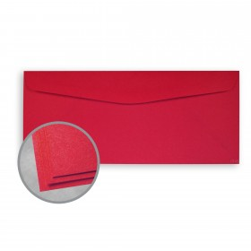 Astrobrights Re-Entry Red Envelopes - No. 10 Commercial (4 1/8 x 9 1/2) 60 lb Text Smooth  30% Recycled 500 per Box