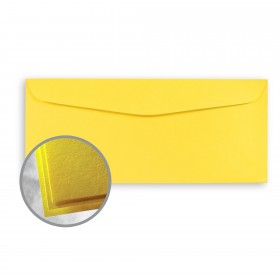 Astrobrights Solar Yellow Envelopes - No. 10 Commercial (4 1/8 x 9 1/2) 60 lb Text Smooth 500 per Box