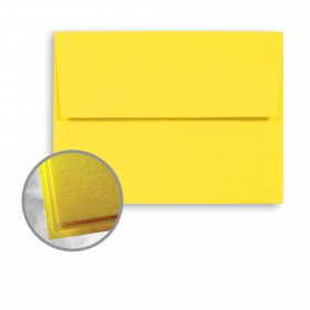 Astrobrights Solar Yellow Envelopes - A7 (5 1/4 x 7 1/4) 70 lb Text Smooth 250 per Box