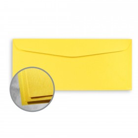 Astrobrights Sunburst Yellow Envelopes - No. 10 Commercial (4 1/8 x 9 1/2) 60 lb Text Smooth  30% Recycled 500 per Box
