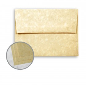 Astroparche Ancient Gold Envelopes - A7 (5 1/4 x 7 1/4) 60 lb Text Vellum  30% Recycled 250 per Box