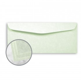 Astroparche Celadon Envelopes - No. 10 Commercial (4 1/8 x 9 1/2) 60 lb Text Vellum  30% Recycled 500 per Box