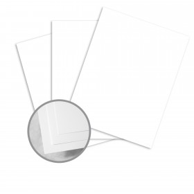Atlas Bond Ultra Bright White Paper - 8 1/2 x 11 in 20 lb Bond Smooth  30% Recycled  25% Cotton Watermarked 500 per Ream