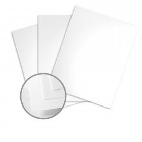 Blazer Digital White Card Stock - 26 x 14 1/3 in 80 lb Cover Gloss C/2S 500 per Carton