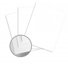 Blazer Digital White Card Stock - 26 x 14 1/3 in 80 lb Cover Satin C/2S 500 per Carton