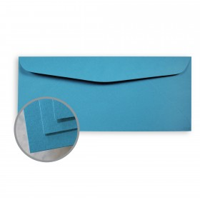 BriteHue Blue Envelopes - No. 10 Commercial (4 1/8 x 9 1/2) 60 lb Text Semi-Vellum  30% Recycled 500 per Box