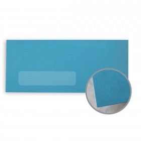 BriteHue Blue Envelopes - No. 10 Window (4 1/8 x 9 1/2) 60 lb Text Vellum  30% Recycled 500 per Box