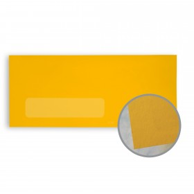 BriteHue Gold Envelopes - No. 10 Window (4 1/8 x 9 1/2) 60 lb Text Vellum  30% Recycled 500 per Box