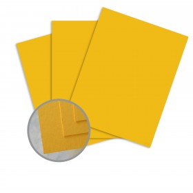 BriteHue Gold Card Stock - 23 x 35 in 65 lb Cover Semi-Vellum  30% Recycled 700 per Carton