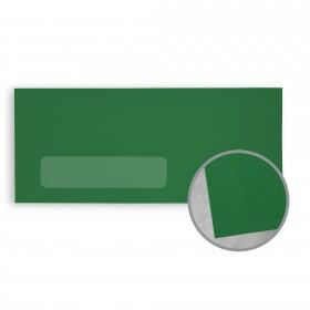BriteHue Green Envelopes - No. 10 Window (4 1/8 x 9 1/2) 60 lb Text Vellum  30% Recycled 500 per Box