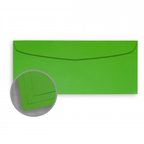 BriteHue Lime Green Envelopes - No. 10 Commercial (4 1/8 x 9 1/2) 60 lb Text Vellum  30% Recycled 500 per Box