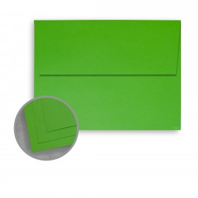 BriteHue Lime Green Envelopes - A7 (5 1/4 x 7 1/4) 60 lb Text Vellum  30% Recycled 250 per Box