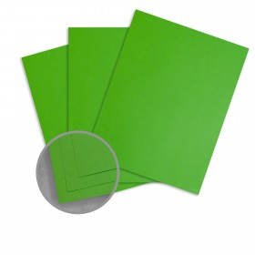 BriteHue Lime Green Card Stock - 8 1/2 x 11 in 65 lb Cover Vellum  30% Recycled 250 per Package