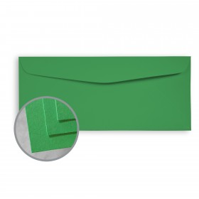 BriteHue Meadow Green Envelopes - No. 10 Commercial (4 1/8 x 9 1/2) 60 lb Text Semi-Vellum  30% Recycled 500 per Box