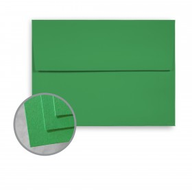 BriteHue Meadow Green Envelopes - A7 (5 1/4 x 7 1/4) 60 lb Text Semi-Vellum  30% Recycled 250 per Box