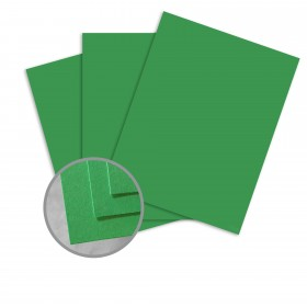 BriteHue Meadow Green Card Stock - 8 1/2 x 11 in 65 lb Cover Semi-Vellum  30% Recycled 250 per Package