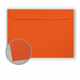 BriteHue Orange Envelopes - No. 9 1/2 Booklet (9 x 12) 60 lb Text Vellum  30% Recycled 500 per Carton