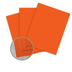 BriteHue Orange Card Stock - 8 1/2 x 11 in 65 lb Cover Semi-Vellum  30% Recycled 250 per Package