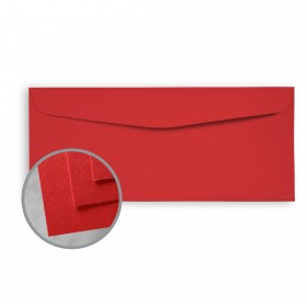 BriteHue Red Envelopes - No. 10 Commercial (4 1/8 x 9 1/2) 60 lb Text Semi-Vellum  30% Recycled 500 per Box