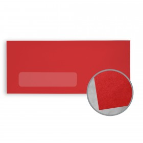 BriteHue Red Envelopes - No. 10 Window (4 1/8 x 9 1/2) 60 lb Text Vellum  30% Recycled 500 per Box