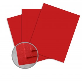BriteHue Red Card Stock - 26 x 40 in 65 lb Cover Vellum  30% Recycled 500 per Carton
