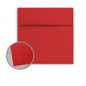 BriteHue Red Envelopes - No. 6 Square (6 x 6) 60 lb Text Vellum  30% Recycled 250 per Box