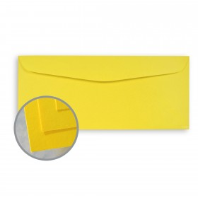 BriteHue Sun Yellow Envelopes - No. 10 Commercial (4 1/8 x 9 1/2) 60 lb Text Semi-Vellum  30% Recycled 500 per Box