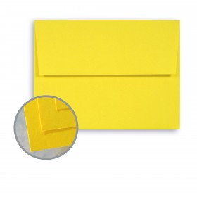 BriteHue Sun Yellow Envelopes - A6 (4 3/4 x 6 1/2) 60 lb Text Semi-Vellum  30% Recycled 250 per Box