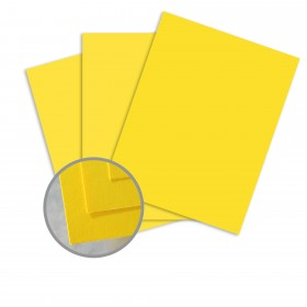 BriteHue Sun Yellow Card Stock - 11 x 17 in 65 lb Cover Semi-Vellum  30% Recycled 250 per Package