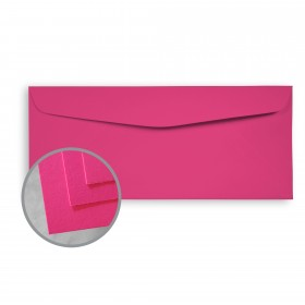 BriteHue Ultra Fuchsia Envelopes - No. 10 Commercial (4 1/8 x 9 1/2) 60 lb Text Semi-Vellum 500 per Box