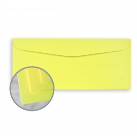 BriteHue Ultra Lemon Envelopes - No. 10 Commercial (4 1/8 x 9 1/2) 60 lb Text Semi-Vellum 500 per Box