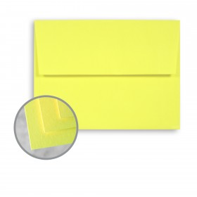 BriteHue Ultra Lemon Envelopes - A2 (4 3/8 x 5 3/4) 60 lb Text Semi-Vellum 250 per Box