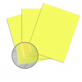 BriteHue Ultra Lemon Paper - 8 1/2 x 11 in 60 lb Text Semi-Vellum 500 per Ream