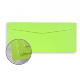 BriteHue Ultra Lime Envelopes - No. 10 Commercial (4 1/8 x 9 1/2) 60 lb Text Semi-Vellum 500 per Box