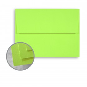 BriteHue Ultra Lime Envelopes - A6 (4 3/4 x 6 1/2) 60 lb Text Semi-Vellum 250 per Box