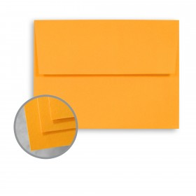 BriteHue Ultra Orange Envelopes - A2 (4 3/8 x 5 3/4) 60 lb Text Semi-Vellum 250 per Box