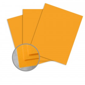 BriteHue Ultra Orange Card Stock - 11 x 17 in 65 lb Cover Semi-Vellum 250 per Package